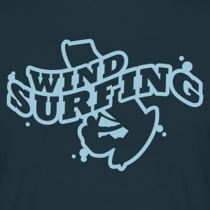 Navy Windsuring - surfen T-Shirts - Männer T-Shirt