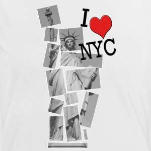I Love NYC - Frauen Kontrast-T-Shirt