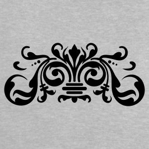 Heather grey baroque ornament (1c) Baby T-shirts - Baby T-shirt