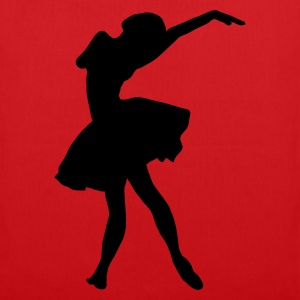 Red silhouette ballerina Bags  - Tote Bag
