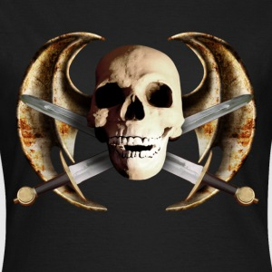 Schwarz dragon_wing_skull_f T-Shirts - Frauen T-Shirt