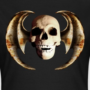 Schwarz dragon_wing_skull_c T-Shirts - Frauen T-Shirt