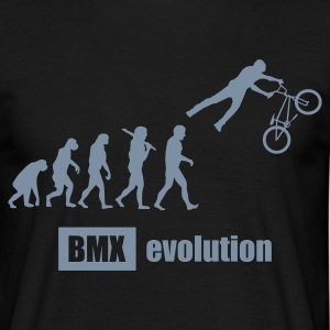 BMX Evolution, mit Text T-Shirts - Männer T-Shirt