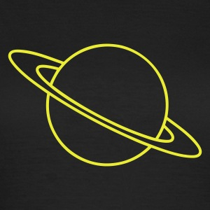 Black Planet Saturn Women's T-Shirts - Women's T-Shirt