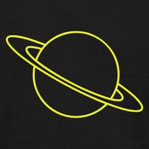 Sort Planet Saturn T-shirts - Herre-T-shirt