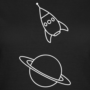 Sort Rocket T-shirts - Dame-T-shirt