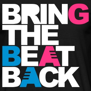 Zwart Bring The Beat Back T-shirts - Mannen T-shirt
