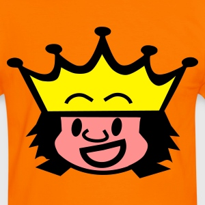 Orange/blanc king / queen T-shirts - T-shirt contraste Homme