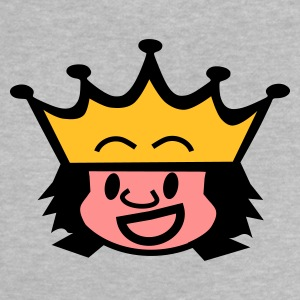 Heather grey king / queen Baby T-shirts - Baby T-shirt