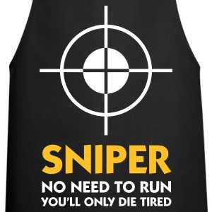 Black Sniper - No need to run (2c)  Aprons - Cooking Apron