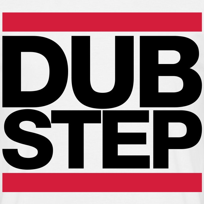 """Black and red """"DUBSTEP"""" T-shirt"""