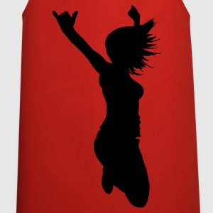 Red silhouette woman pose  Aprons - Cooking Apron