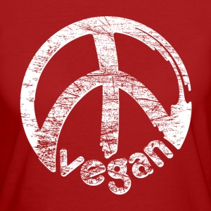 Womens Klimaneutral - 'vegan peace' - Frauen Bio-T-Shirt