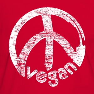 Mens Kontrast 'vegan peace' - Men's Ringer Shirt