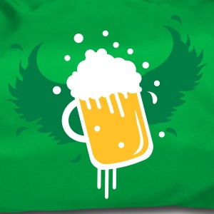Emerald green Beer glass with beer in the wings for Beer Festival visitors. Bags  - Duffel Bag