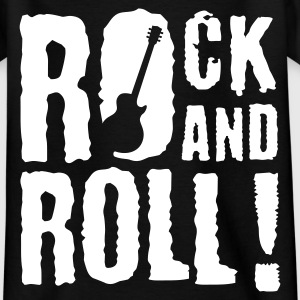 Schwarz rock_and_roll_a_1c Kinder T-Shirts - Teenager T-Shirt