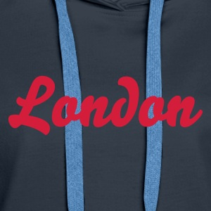 Navy London Pullover - Frauen Premium Hoodie