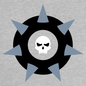 Heather grey Schädel-Schild mit Dornen / spiked skull shield (3c) Baby Shirts  - Baby T-Shirt