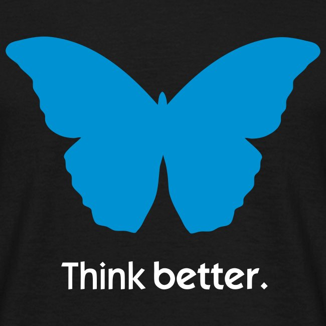 Think Better MorphOS, blau-weiss