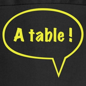 Tablier A table (impression Jaune Fluo) - Tablier de cuisine