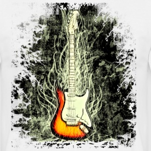 Blanc guitare T-shirts - T-shirt Homme
