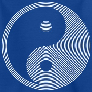 HYPNOTIC YIN & YANG weiß | Kindershirt - Teenager T-Shirt