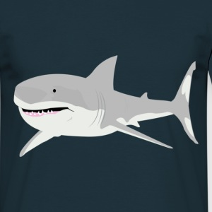 Navy shark Men's T-Shirts - Men's T-Shirt