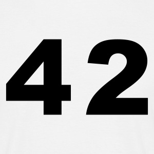 White Number - 42 – Forty Two Men's T-Shirts - Men's T-Shirt