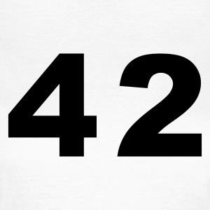 White Number - 42 – Forty Two Women's T-Shirts - Women's T-Shirt