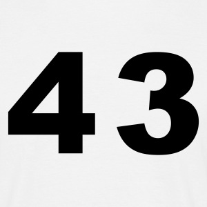 White Number - 43 – Forty Three Men's T-Shirts - Men's T-Shirt