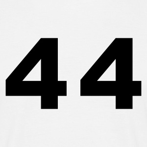 White Number - 44 – Forty Four Men's T-Shirts - Men's T-Shirt