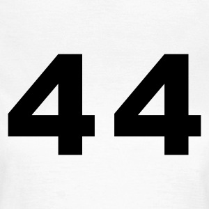 White Number - 44 – Forty Four Women's T-Shirts - Women's T-Shirt