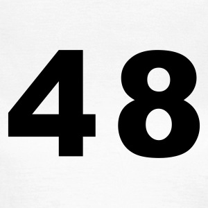 White Number - 48 – Forty Eight Women's T-Shirts - Women's T-Shirt