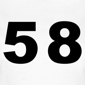 White Number - 58 – Fifty Eight Women's T-Shirts - Women's T-Shirt