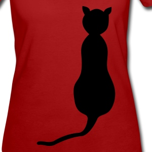 Purple Cat from behind Women's T-Shirts - Women's Organic T-shirt