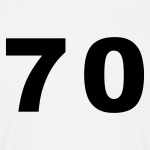 White Number - 70 – Seventy Men's T-Shirts - Men's T-Shirt