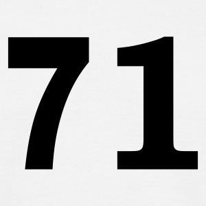 White Number - 71 – Seventy One Men's T-Shirts - Men's T-Shirt