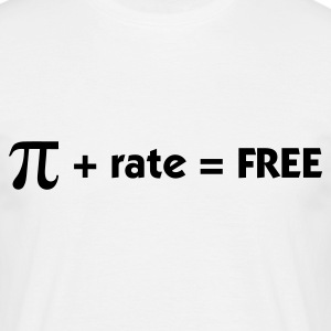 Blanc Pi + rate = Free (1c) T-shirts - T-shirt Homme