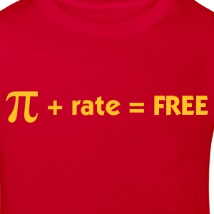 Röd Pi + rate = Free (1c) Barn-T-shirts - Ekologisk T-shirt barn