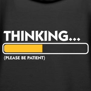 Sort Thinking...please be patient (2c) Sweatshirts - Dame Premium hættetrøje