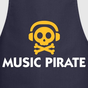 Navy Music Pirate (2c)  Aprons - Cooking Apron