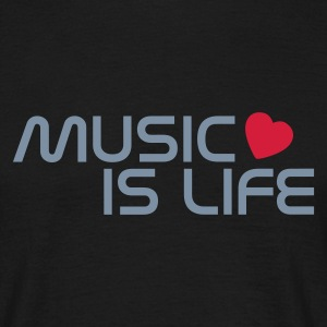 Music is life - Herre-T-shirt