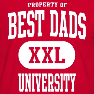 BEST DADS UNIVERSITY Papa T-Shirt College - Männer Kontrast-T-Shirt