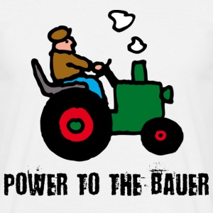 Weiß power_to_the_bauer_c T-Shirts - Männer T-Shirt