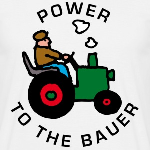 Weiß power_to_the_bauer_b T-Shirts - Männer T-Shirt