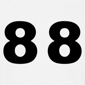 White Number - 88– Eighty Eight Men's T-Shirts - Men's T-Shirt