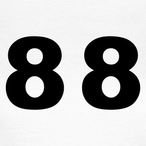 White Number - 88– Eighty Eight Women's T-Shirts - Women's T-Shirt