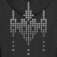 Design ~ hackerspace invader boy's hooded zipper