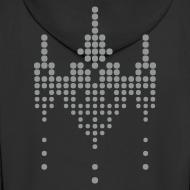 Design ~ hackerspace invader boy's hooded zipper