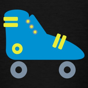 Black Rollschuhe / roller skates (3c) Kids' Shirts - Teenage T-shirt